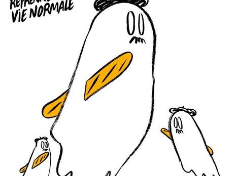 Карикатура натеракты встолице франции — Charlie Hebdo
