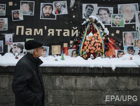 Мемориал Небесной сотни на улице Институтской в Киеве