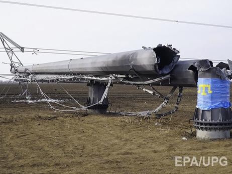 Из-за поврежденных электроопор вода в Крыму будет подаваться по графику