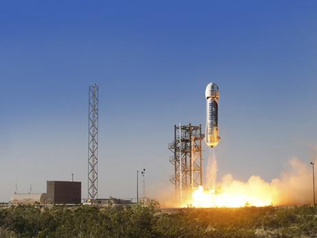 Космический аппарат New Shepard совершил первую вистории вертикальную посадку