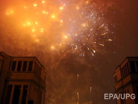 В минувшие годы в центре Брюсселя устраивали красочные фейерверки