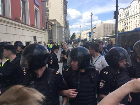 В столице задержано неменее 1 тысячи человек— МВД