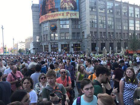 Неменее 150 задержанных наакции вцентре столицы провели ночь вОВД
