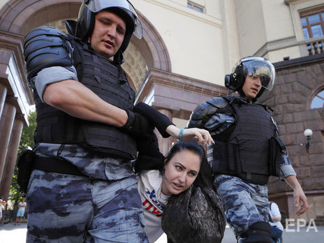 В Москве задержали более тысячи участников акций протеста