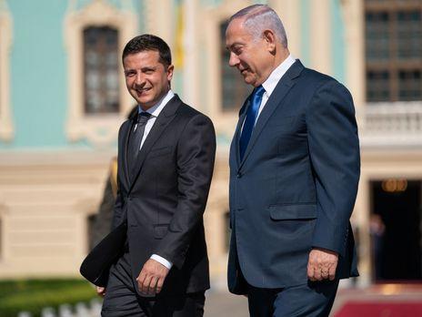 Перед вильотом у Київ Нетаньяху говорив, що має намір обговорити із Зеленським, зокрема, питання зони вільної торгівлі між країнами