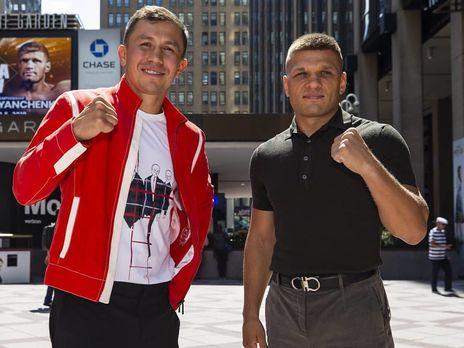 Дерев'янченко (праворуч) і Головкін (ліворуч) битимуться 5 жовтня
