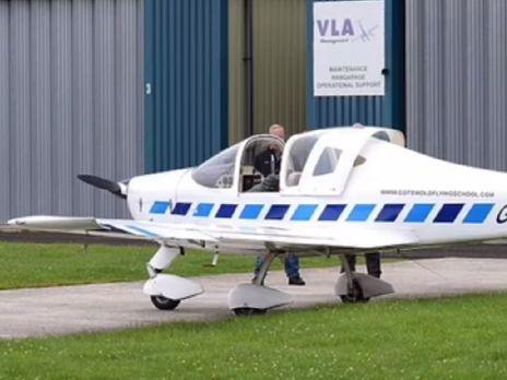Самолет выполнял тренировочный полет