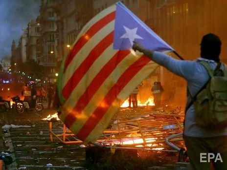 Акции протеста в Барселоне начались 14 октября