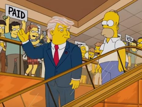 В мультфильме Гомер Симпсон сопровождал Дональда Трампа