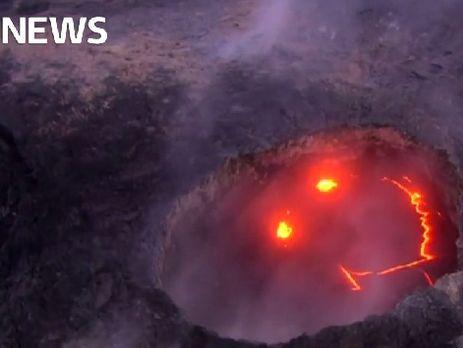 """Гавайский """"улыбающийся"""" вулкан Килауэа"""