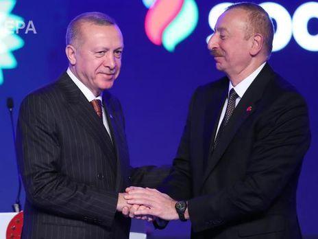 """Эрдоган назвал дату запуска """"Турецкого потока"""" на церемонии подключения газопровода TANAP, на которой также присутствовал Алиев"""