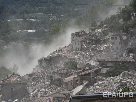 МИД: Украинцы впроцессе землетрясения вИталии непострадали