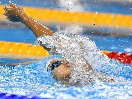 НОК: Украинская пловчиха Зевина установила рекорд Кубка мира