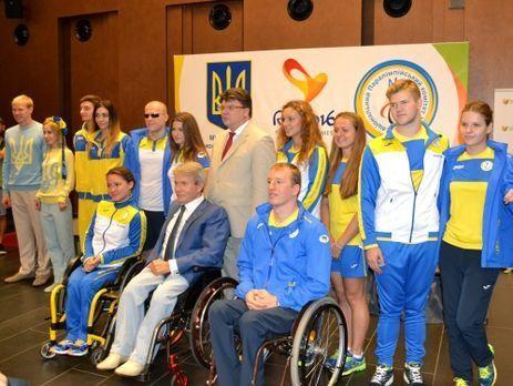 Паралимпийскую сборную Украины торжественно провели вКиеве
