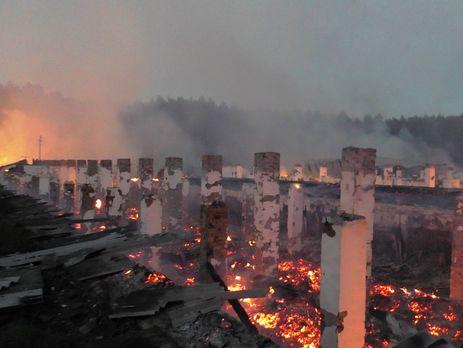 Масштабный пожар наЧерниговщине: сгорели 5 овощехранилищ итехника