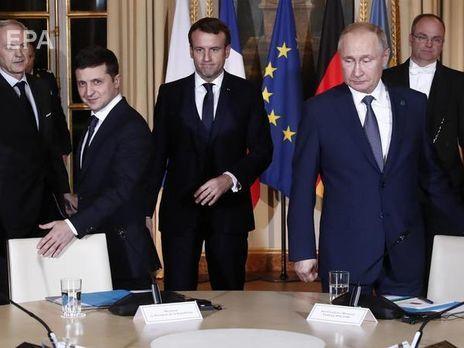Президент Украины Зеленский и президент РФ Путин провели первую личную встречу