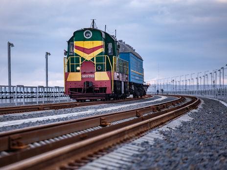Image result for керченский мост поезд