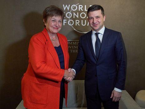 Зеленский и Георгиева провели встречу в Давосе