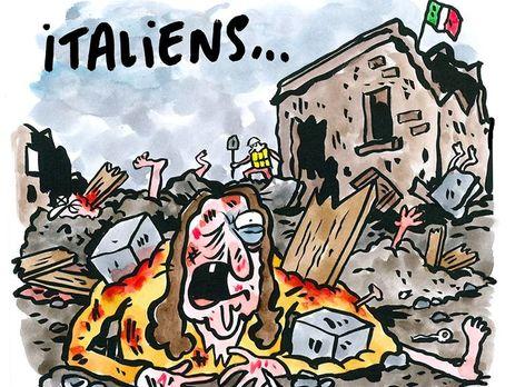 «Пенне втоматном соусе»— Charlie Hebdo поиздевался над жертвами землетрясения вИталии