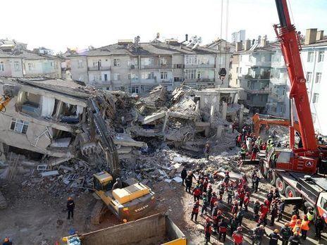 турция землетрясение 2020 карта