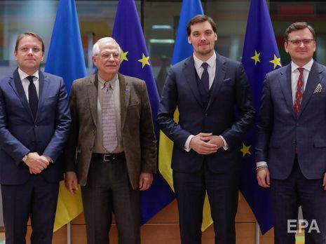 Участники переговоров подтвердили неизменную приверженность укреплению политической ассоциации и экономической интеграции между Украиной и Европейским союзом