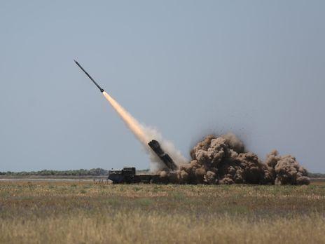 """Залп одной установки """"Ольха"""" 12 ракет"""