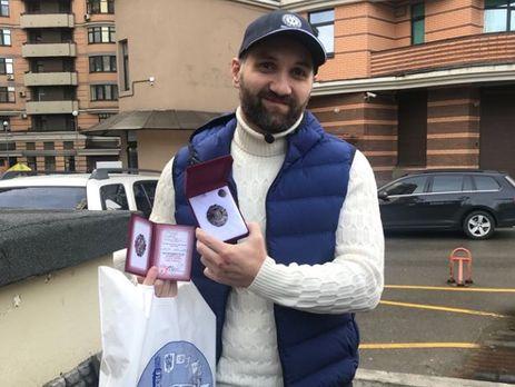 За порятунок людей Тедеєву вручили нагороду від столичного управління ДСНС