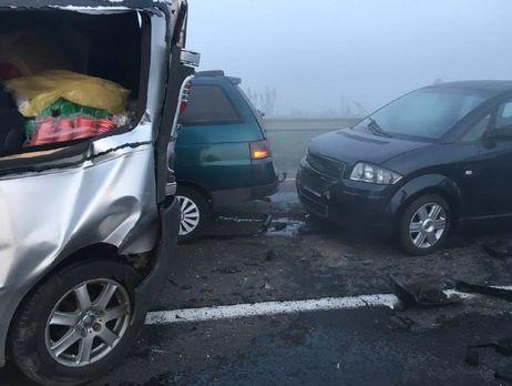 Масштабное ДТП под Львовом: 12 машин столкнулись из-за смога, пострадали 10 человек