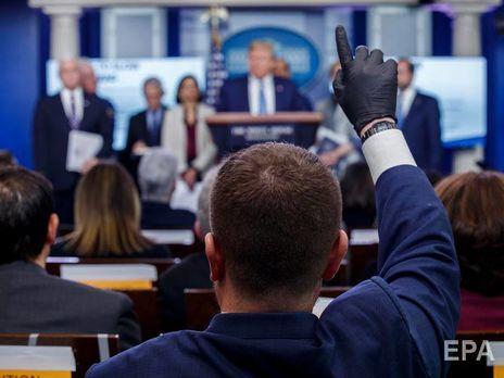 В США журналистов будут проверять на коронавирус перед встречей с Трампом