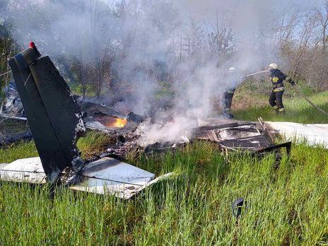 Літак згорів