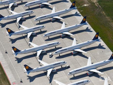 """В Lufthansa заявили, что из-за пандемии коронавируса """"сжигают €1 млн в час"""""""