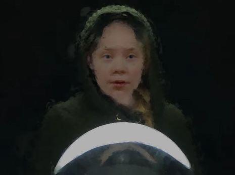 Изображение Тунберг в ролике размыто