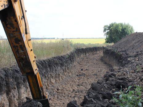 Заграждения на границе с РФ строят с 2014 года