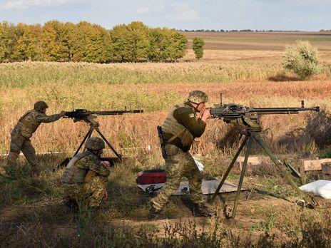 Українські військовослужбовці відкривали по противнику вогонь у відповідь