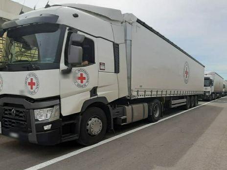 Три грузовика с гумпомощью последовали в оккупированный Донецк