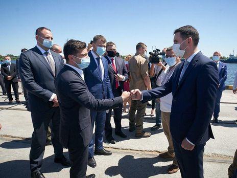 На подписании договора присутствовал президент Украины Владимир Зеленский