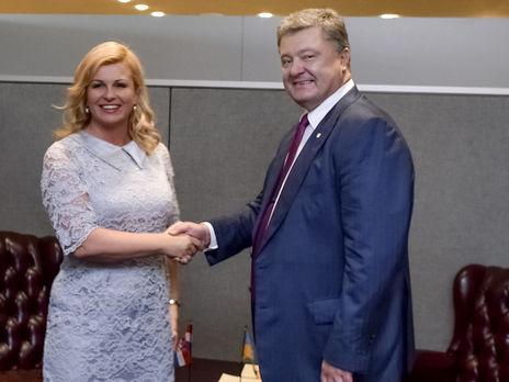 Порошенко вСША провел встречу спрезидентом Хорватии Грабарь-Китарович