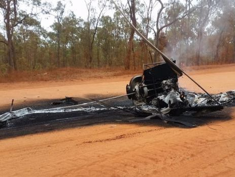 ВАвстралии вертолет зацепился зарог коровы ипотерпел крушение