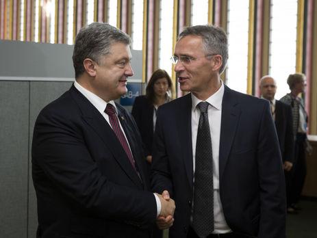 Порошенко встретился с генеральным секретарем  НАТО