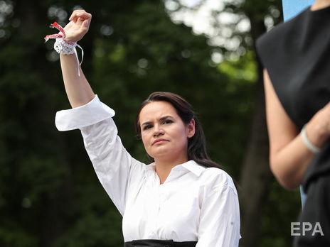 В ходе кампании Тихановская перевезла детей в одну из стран Европы