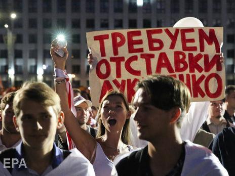 У різних частинах Мінська, а також в інших містах країни почалися протести не згодних з оголошеними результатами виборів