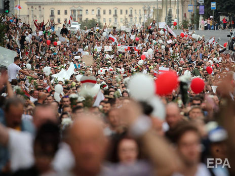 Протесты в Беларуси начались 9 августа