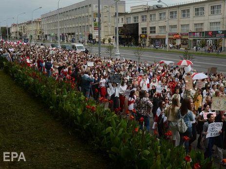 Білоруські спортсмени підтримали протестувальників
