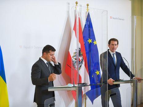 Зеленский провел переговоры с федеральным канцлером Австрии Себастьяном Курцем