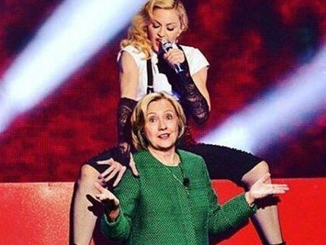 Мадонна публично заявила, что проголосует за Клинтон
