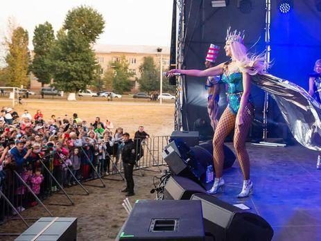 Полякова выступала в Новобаварском районе Харькова