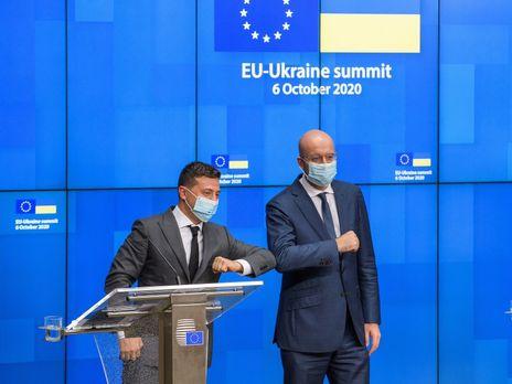 Заявление опубликовано по итогам визита Зеленского (слева) на саммит Украина ЕС