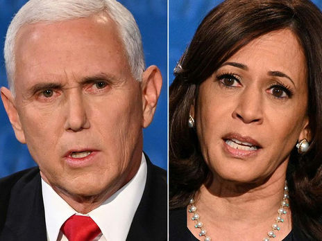 Кандидаты на пост вице-президента США республиканец Майк Пенс и демократ Камала Харрис