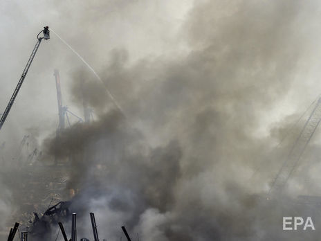 Наскладе стопливом вБейруте произошел взрыв; есть жертвы