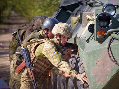 Жертв среди украинских военных на Донбассе 17 октября нет